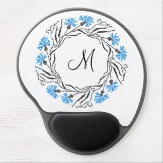 Cornflower cross-stitch ring gel mouse pad