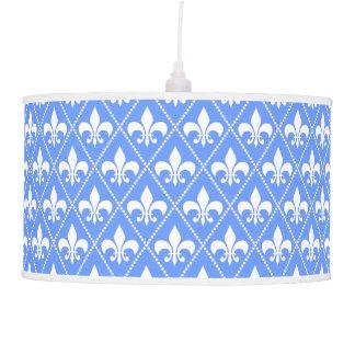Cornflower Fleur de Lis Ceiling Lamp
