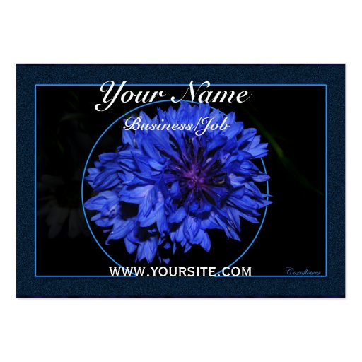 Cornflower Large Business Cards (Pack Of 100)