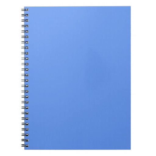 Cornflower Light Baby Blue Solid Color Background Spiral Note Book