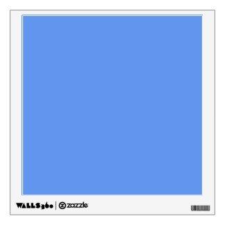 Cornflower Light Baby Blue Solid Color Background Wall Graphic
