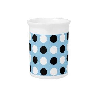 Cornflower Polka Dots Beverage Pitchers