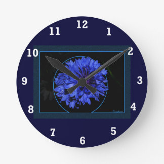 Cornflower Reloj Redondo Mediano