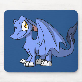 Cornflower SD Furry Dragon Mouse Pad