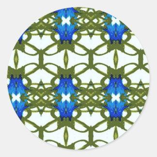 Cornflower Series Classic Round Sticker