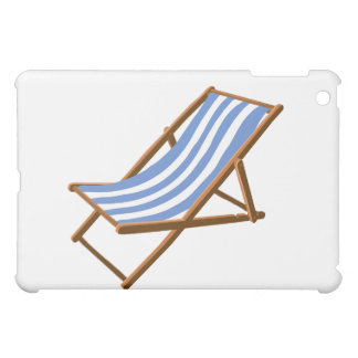 cornflower striped wooden beach chair.png iPad mini case