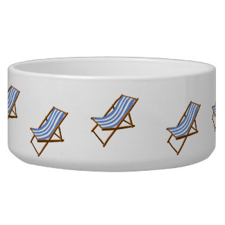 cornflower striped wooden beach chair.png dog bowl