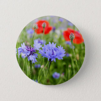 cornflowers and poppies button