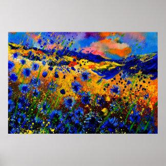 cornflowers azules 0746 poster