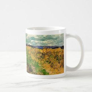 Cornflowers del campo de trigo de Van Gogh, bella Taza De Café