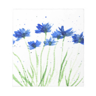 Cornflowers flowers notepad