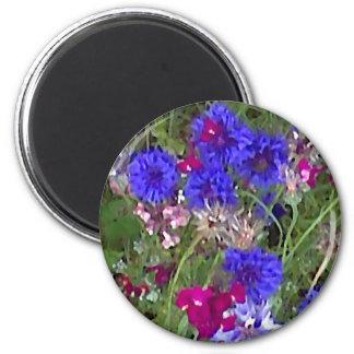 Cornflowers in the Wild 2 Inch Round Magnet