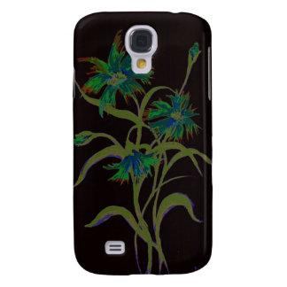 Cornflowers on Black Galaxy S4 Case