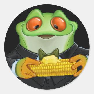 Cornfrog Classic Round Sticker
