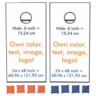 Cornhole Set Own Color - uni White
