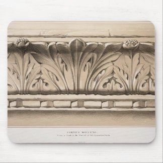 Cornice Moulding, From a Tomb in the Church of S.S Mouse Pad