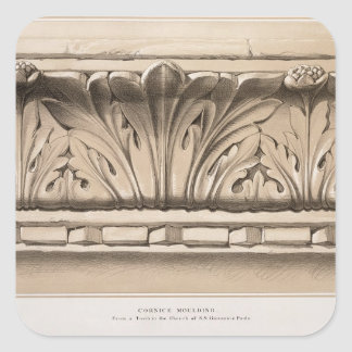 Cornice Moulding, From a Tomb in the Church of S.S Square Sticker