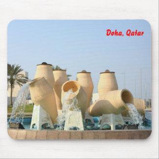 Corniche fountain, Doha, Qatar Mousepad