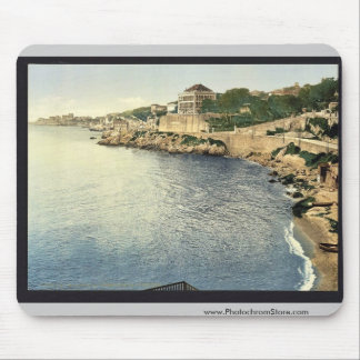 Corniche Road, III, Marseilles, France vintage Pho Mouse Pads