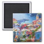 Corniglia Cinque Terre Italia 2 Inch Square Magnet