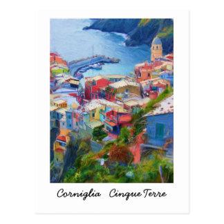 Corniglia Cinque Terre Italia Tarjeta Postal
