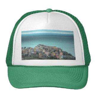 Corniglia en los acantilados, Cinque Terre Italia Gorras