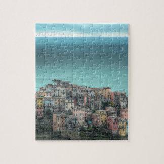 Corniglia en los acantilados, Cinque Terre Italia Puzzles