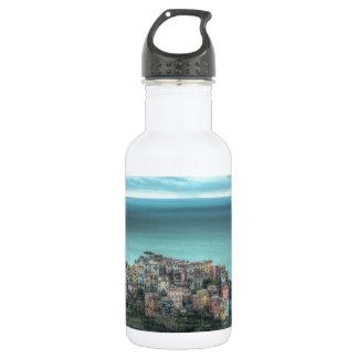 Corniglia on the cliffs, Cinque Terre Italy 18oz Water Bottle
