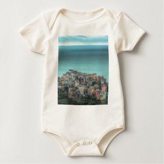 Corniglia on the cliffs, Cinque Terre Italy Baby Bodysuit