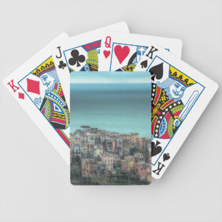 Corniglia on the cliffs, Cinque Terre Italy Bicycle Playing Cards