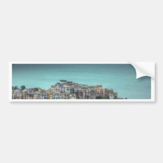 Corniglia on the cliffs, Cinque Terre Italy Car Bumper Sticker