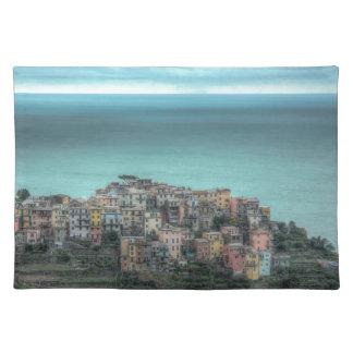Corniglia on the cliffs, Cinque Terre Italy Cloth Placemat