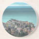Corniglia on the cliffs, Cinque Terre Italy Beverage Coasters