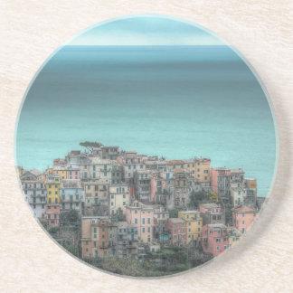 Corniglia on the cliffs, Cinque Terre Italy Coaster