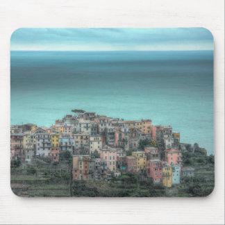 Corniglia on the cliffs, Cinque Terre Italy Mouse Pad