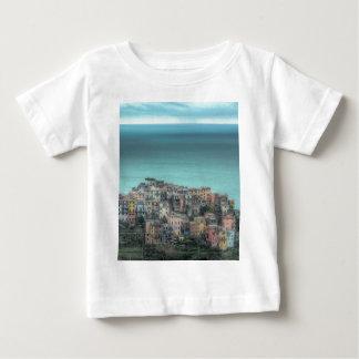 Corniglia on the cliffs, Cinque Terre Italy Tee Shirts