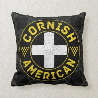 Cornish American Flag Throw Pillow