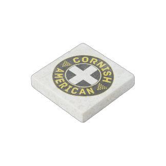 Cornish American Flag Stone Magnet