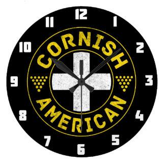 Cornish American Flag Wall Clock