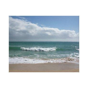 Cornish beach wave canvas print