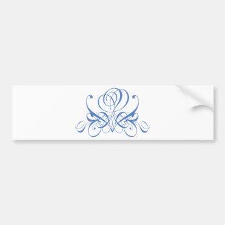 Cornish Blue Rose Bumper Sticker