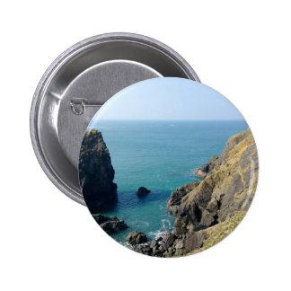 Cornish cliffs pinback button