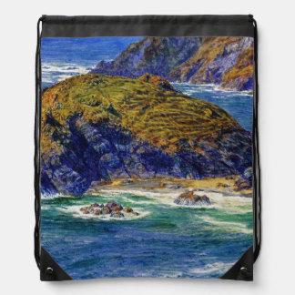 Cornish Coast Drawstring Bag
