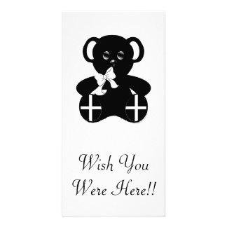 Cornish Flag Teddy Bear Card
