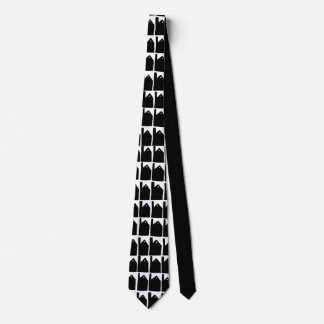 Cornish mines silhouette tie