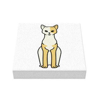 Cornish Rex Cat Cartoon Stretched Canvas Prints