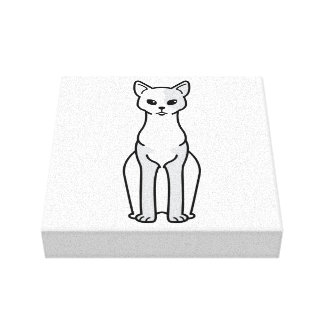 Cornish Rex Cat Cartoon Canvas Print