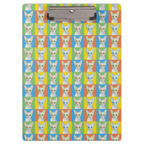 Cornish Rex Cat Cartoon Pop-Art Clipboard