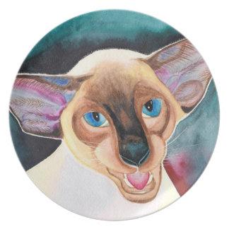 Cornish Rex Cat dinner or decorative plate
