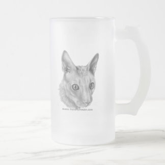 Cornish Rex cat Frosted Glass Beer Mug
